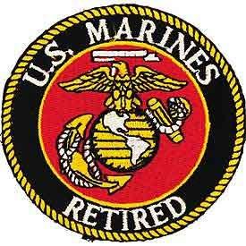 "U.S. Marines ""Retired"" Patch"