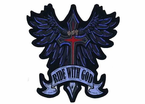 Large Ride With God Back Patch
