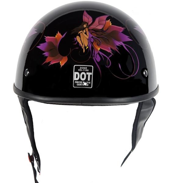 Low Profile D.O.T. Helmet with Fairy Design