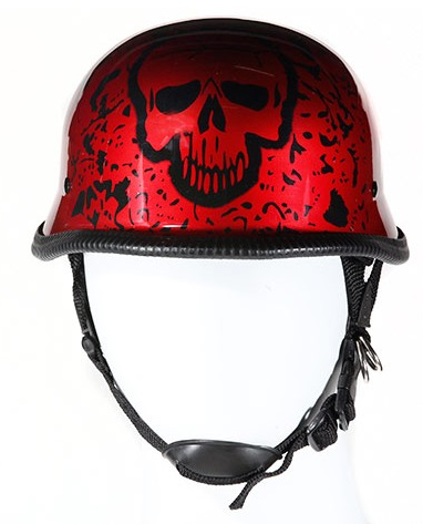 Novelty German Red Skull Helmet