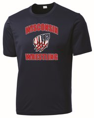 WI Wrestling USA Drifit Tee