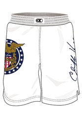 Cliff Keen White Fight Shorts