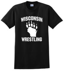Gildan Ultra Cotton 100% Cotton T-Shirt- Wisconsin Wrestling Black
