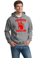 Gildan DryBlend Wisconsin Wrestling Pullover Hooded Sweatshirt