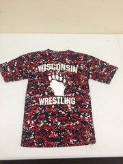Wisconsin Wrestling Digi-camo Drifit Tee