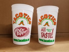 Taco Tico 22oz plastic cup - set of 8