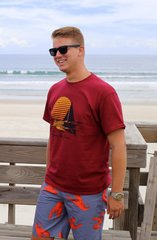 Sailboat Tee - Cranberry Red