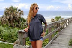 Ladies Dark Grey Polo
