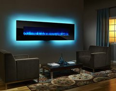 "Simplifire 94"" Wall-Mount Electric Fireplace"