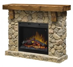 Dimplex Fieldstone Electric Fireplace Set w/Logs