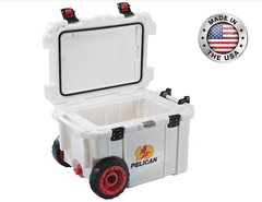 Pelican 45qt Elite Cooler w/ Wheels - White