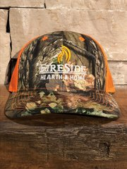 Fireside Camo Cap w/Orange Mesh