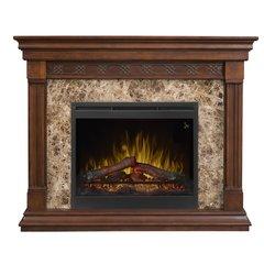 Dimplex Alcott Electric Fireplace Set w/Logs