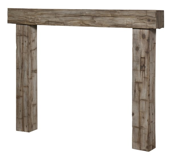 magrahearth non combustible post   beam surround in silver