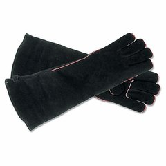 "Hearth Gloves - 20"" (Black Suede)"