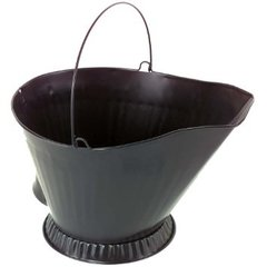 Black Steel Coal Hod