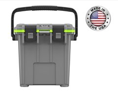 Pelican 20qt Elite Cooler - Dark Gray/Green