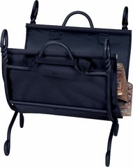Uniflame Ring Swirl Black Log Rack w/Canvas Carrier