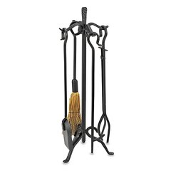 Uniflame 5 Pc. Heavy Weight Black Wrought Iron Fireset