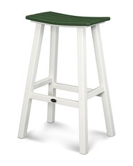 "Polywood 30"" Contempo Saddle Bar Stool"