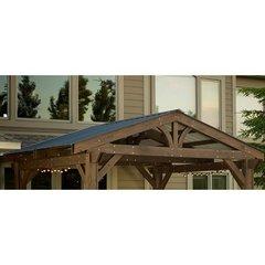 Outdoor GreatRoom Green Metal Roof for Lodge II