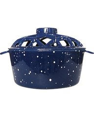Uniflame Porcelain Coated Lattice Steamer in Blue w/White Speckles