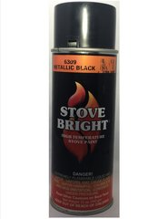 Stove Bright Fireplace Paint - Metallic Black