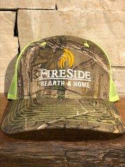 Fireside Camo Cap w/Green Mesh