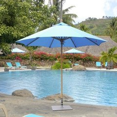 Galtech 7.5' Caribbean Blue Umbrella w/Textured Sand Pole