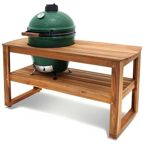 the big green egg acacia wood table | shopfireside, grills