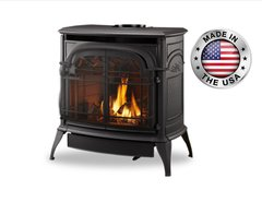 Vermont Castings Stardance w/Signature Command Direct Vent Gas Stove in Classic Black