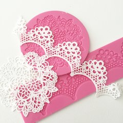 EDIBLE CAKE LACE DECORATIONS