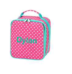Personalized Pink Dottie Lunchbox