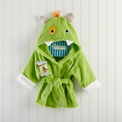 "Personalized ""My Little Monster"" Hooded Spa Robe"