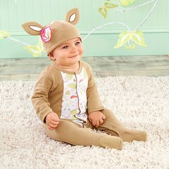 """Personalized """"Oh Deer"""" Two-Piece Sleeper Set"""