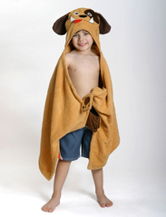Children's Personalized Duffy the Dog Hooded Towel