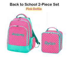 "Personalized ""Back to School"" 2-Piece Pink Dottie Set"
