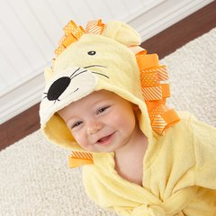 Personalized Lion Hooded Spa Robe