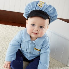Personalized Little Officer 2-Piece Sleeper Set