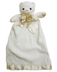 Personalized Lovie Cream Bear Security Blanket
