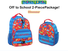 "Personalized ""Back to School"" 2-Piece Dinosaur Set"