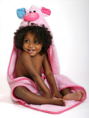 Toddler's Personalized Pinky the Piglet Hooded Towel