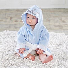 Infant's Personalized Little Prince Hooded Spa Robe