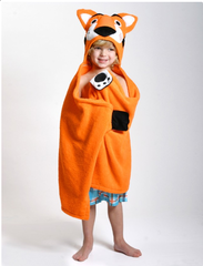 Children's Personalized Travis the Tiger Hooded Towel