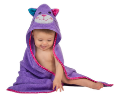 Toddler's Personalized Kallie the Kitten Hooded Towel