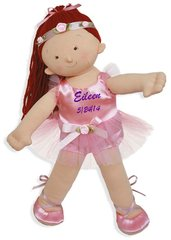 "Personalized 18"" Rosy Cheeks Big Sister Ballerina Doll - Red Head"