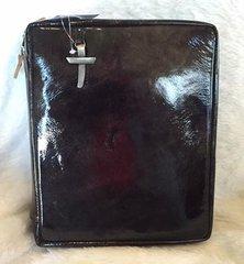 Crimson Truth Genuine Leather Bible Cover - Graphite