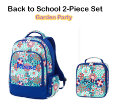 "Personalized ""Back to School"" 2-Piece Garden Party Set"