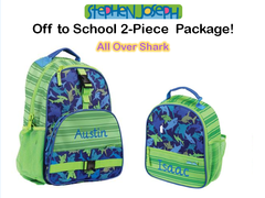 "Personalized ""Back to School"" 2-Piece Shark Set"