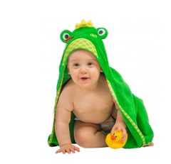 Toddler's Personalized Flippy the Frog Hooded Towel